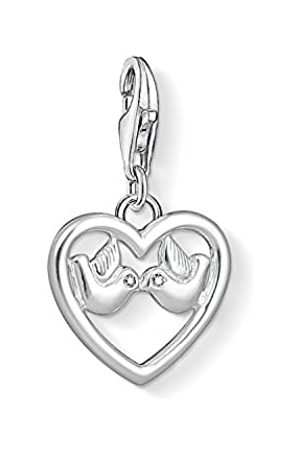 Thomas Sabo Unisex Heart with Doves 925 Sterling Zirconia Charm Pendant 1383-051-14