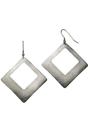 ZEEme 389030032 Women's Hook Earrings Structured Stainless Steel