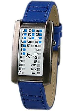 Xtress Men's Binary Quartz Watch with Leather Strap XDA1030A