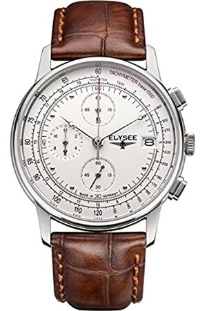 ELYSEE Unisex Adult Analogue Quartz Watch with Leather Strap 11010
