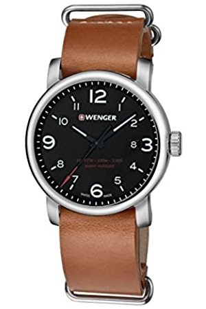 Wenger Men's Analogue Quartz Watch with Leather Strap 01.1041.136