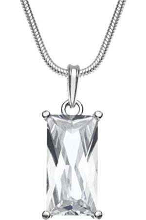InCollections Women's Pendant 925/000 Sterling with Zirconia Including Snake Chain Necklace 1.6/42 cm 241A201693340