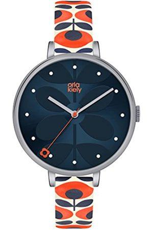 Orla Kiely Womens Analogue Classic Quartz Watch with Leather Strap OK2137