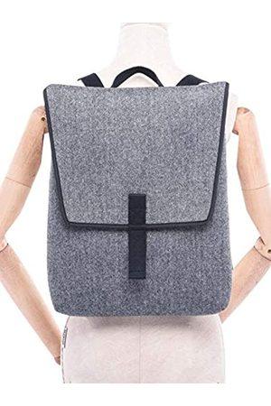 Zelo21 Pyjama Backpack with Modern Design PORTAMI with You Grey Herringbone Pattern.