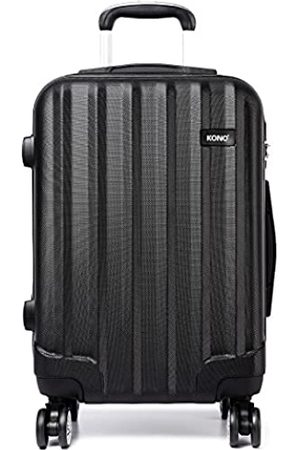 "Kono 20"" Cabin Hand Luggage Super Lightweight ABS Suitcase 4 Wheels Spinner Luggage Vertical Strip Travel Trolley Case ( 20"")"