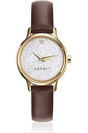 Esprit TP10928 Women's Quartz Watch with White Dial Analogue Display and Leather Strap ES109282002