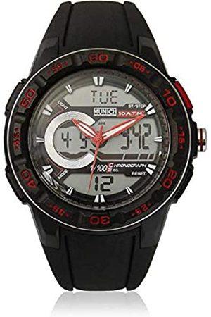 Munich Unisex Adult Digital Quartz Watch with Rubber Strap MU+130.1A