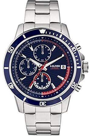 s.Oliver Mens Chronograph Quartz Watch with Stainless Steel Strap SO-3859-MC