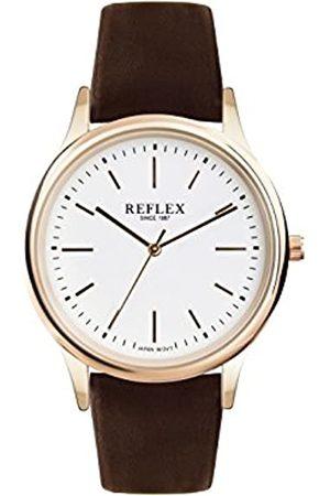 Reflex Mens Analogue Classic Quartz Watch with PU Strap REF0016