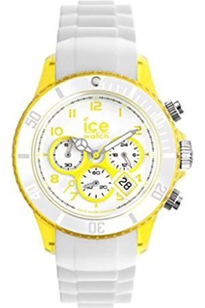 Ice-Watch Chrono Party Unisex Quartz Watch with White Dial Time Teacher Display and White Silicone Bracelet CH.WYW.U.S.13