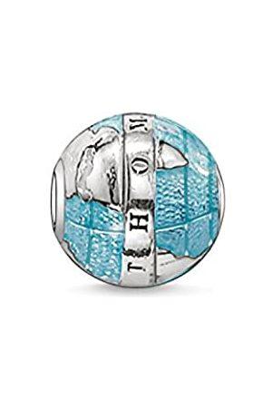 Thomas Sabo Women Men-Bead Wonderful world Karma Beads 925 Sterling Silver blackened K0036-007-1