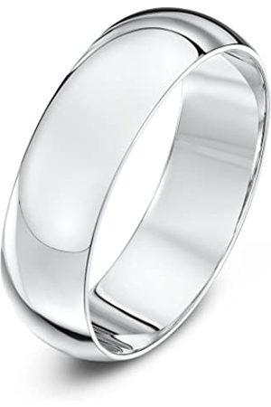 THEIA Unisex 18 ct , Super Heavy D Shape, Polished, 6 mm Wedding Ring