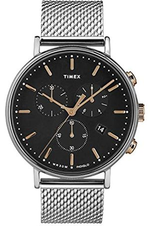 Timex Mens Chronograph Quartz Watch with Stainless Steel Strap TW2T11400