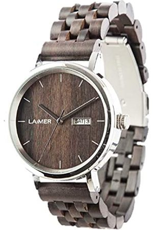 LAiMER Automatic wood watch RAÚL – men's wristwatch made of Sandalwood and stainless steel case - business & nature