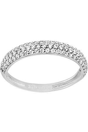 Citerna Women's 9 ct Gold Pave Set Cubic Zirconia Half Eternity Ring