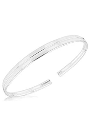 Tuscany Silver Sterling Crossover Torque Bangle