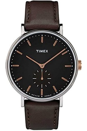 Timex Mens Analogue Classic Quartz Watch with Leather Strap TW2R38100