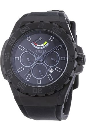 Carucci Watches Men's Automatic Watch Marano di Napoli CA2204BK-BK with Rubber Strap