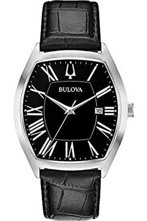 Bulova Mens Analogue Classic Quartz Watch with Leather Strap 96B290