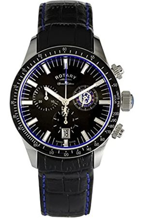 Rotary Men Watches - Mens Chronograph Quartz Watch with Leather Strap GS90048/04