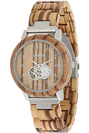 LAiMER Mens Analogue Automatic Watch with Wood Strap 121