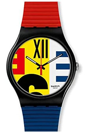 Swatch Mens Analogue Quartz Watch with Silicone Strap SUOB171
