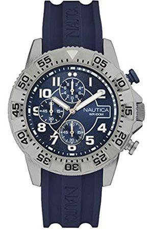 Nautica Mens Analogue Quartz Watch with Silicone Strap NAI16512G