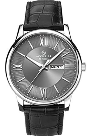 Accurist Mens Analogue Classic Quartz Watch with Leather Strap 7189