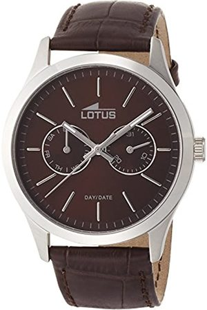 Lotus Men's Quartz Watch with Dial Analogue Display and Leather Strap 15956/2