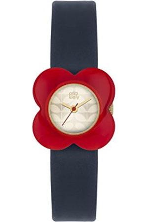 Orla Kiely Women's Analogue Quartz Watch with Leather Strap – OK2062