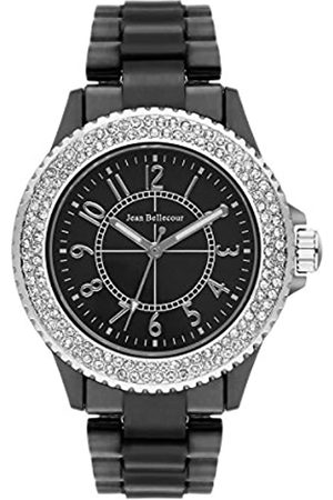 Jean Bellecour Womens Analogue Quartz Watch with Stainless Steel Strap REDH50