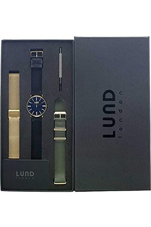 Lund London Unisex Adult Analogue Classic Quartz Watch with Stainless Steel Strap 9006