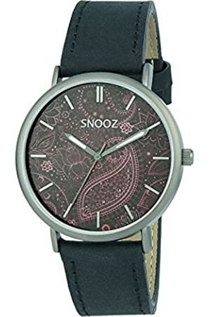 Snooz Men's Analogue Quartz Watch with Leather Strap Saa1041-86