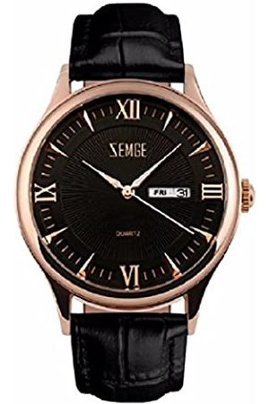 ZEMGE Men's Watch Quartz Analogue Chronograph Date Waterproof Wrist Watch Unisex Business Casual Simple Classic Design Dress Rose Gold Tone Wristwatch with Stainless Steel Case DW Boss Style ZC0111