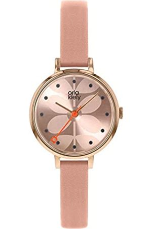 Orla Kiely Unisex Adult Analogue Classic Quartz Watch with Leather Strap OK2252