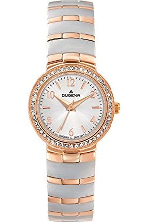 DUGENA Women's Elegant Quartz Watch with Dial Analogue Display and Multi-Colour Stainless Steel Plated Bracelet