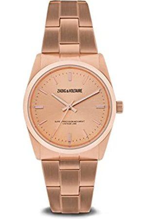 Zadig & Voltaire Unisex Date Quartz Watch with Stainless Steel Bracelet – ZVF230