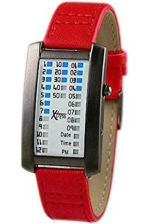 XTRESS Men's Binary Quartz Watch with Leather Strap XDA1030R
