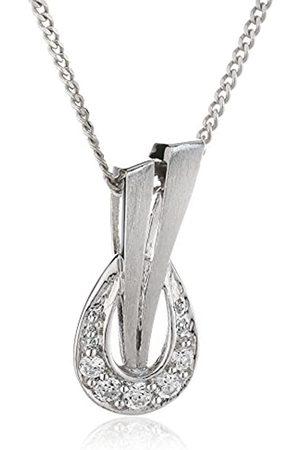 Zeeme 500244089-43 Round Cut Cubic Zirconia Necklace with Pendant