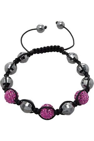 Carlo Monti Women's Bracelet Shamballa L Adjustable Assorted Stones on Black Fabric Band JCM1155 592