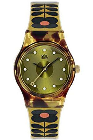 Orla Kiely Women's Analogue Analog Quartz Watch with Plastic Strap OK2322