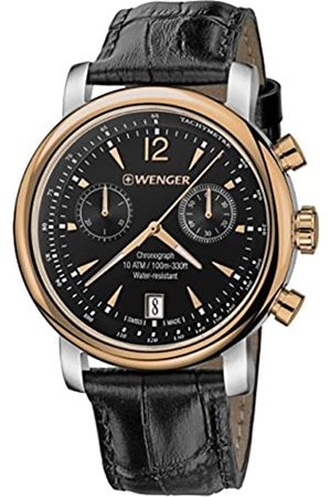 Wenger Men's Analogue Quartz Watch with Leather Strap 01.1043.113