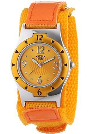 At Time Girl's Quartz Wristwatch with Dial Analog Display and Fabric Strap 454-1806-66