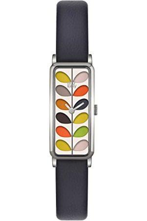Orla Kiely Women's Analogue Quartz Watch with Leather Strap – OK2131