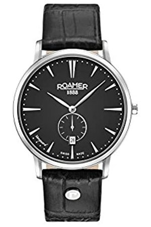 Roamer Mens Analogue Classic Quartz Watch with Leather Strap 980812 41 55 09