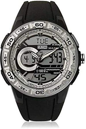 Munich Unisex Adult Digital Quartz Watch with Rubber Strap MU+130.1B