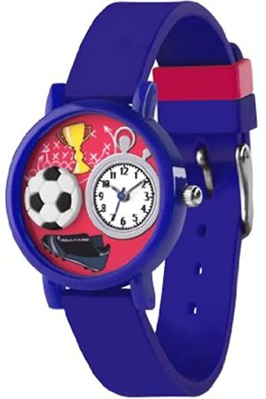 Tikkers Children's Quartz Watch with Dial Analogue Display and Silicone Strap TK0068