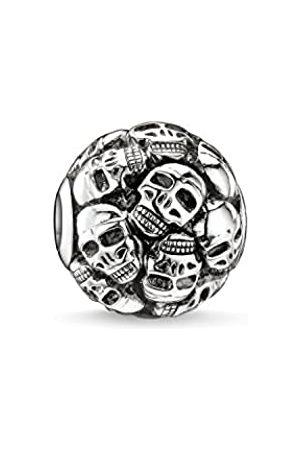 Thomas Sabo Women Men-Bead Skulls Karma Beads 925 Sterling blackened K0062-001-12