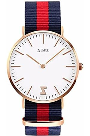 ZEMGE 40mm Men Women Watches Ultra Thin Quartz Analogue Waterproof Wrist Watch Unisex Business Casual Simple Classic Design Dress Rose Gold Tone Wristwatch with Stainless Steel Case DW Style ZC0702M