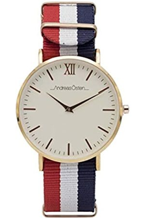 Andreas Osten Unisex Adult Analogue Quartz Watch with Nylon Strap AO-65